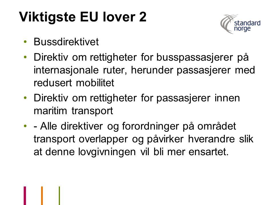 Viktigste EU lover 2 Bussdirektivet