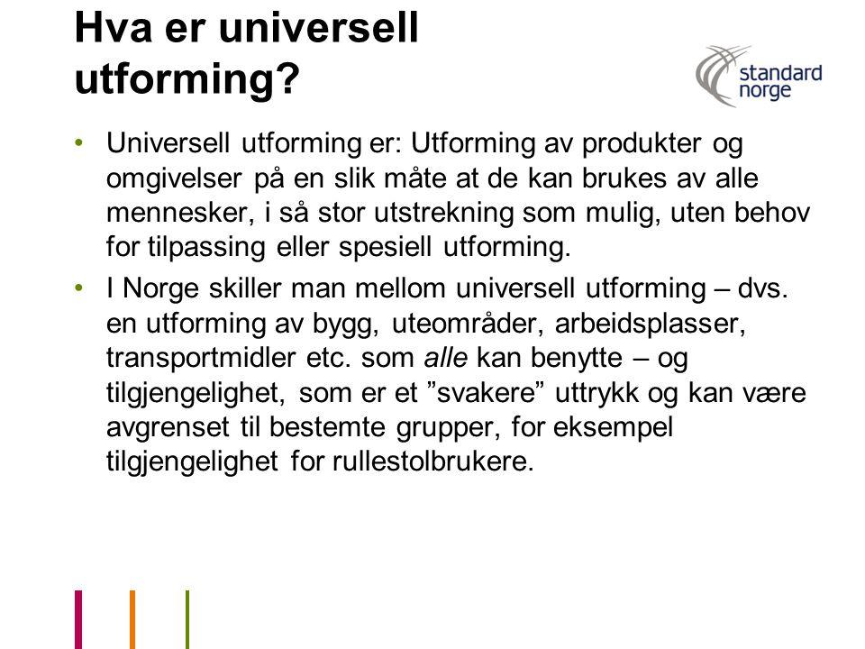 Hva er universell utforming