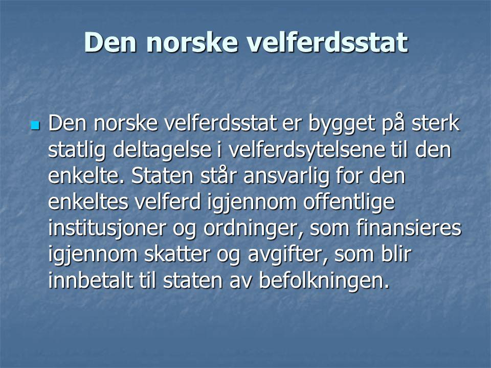 Den norske velferdsstat