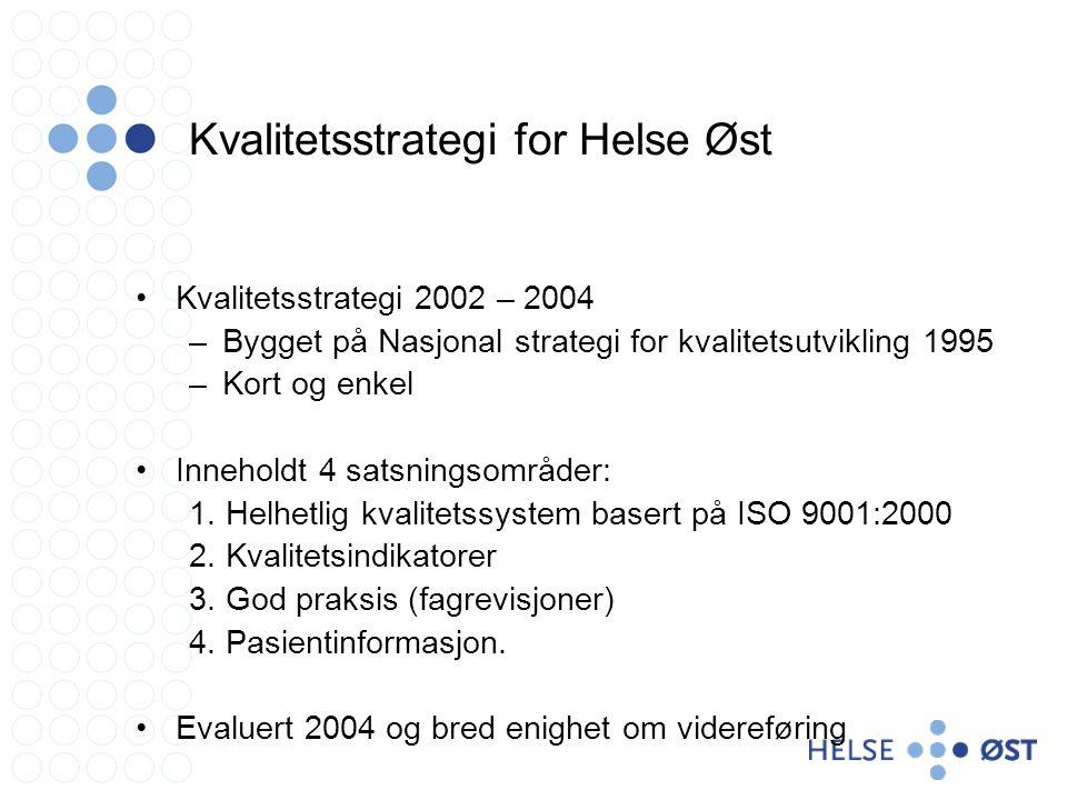 Kvalitetsstrategi for Helse Øst