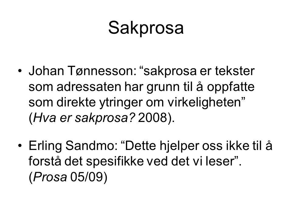 Sakprosa