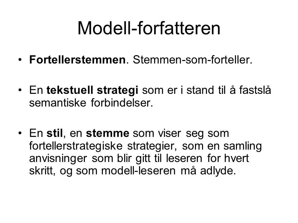 Modell-forfatteren Fortellerstemmen. Stemmen-som-forteller.