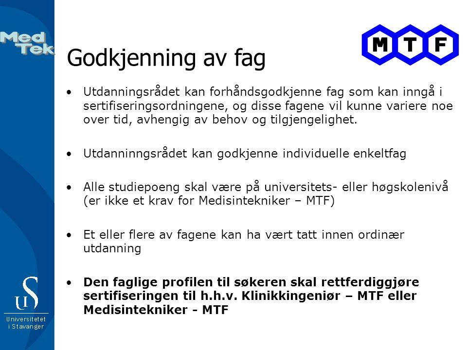 Godkjenning av fag