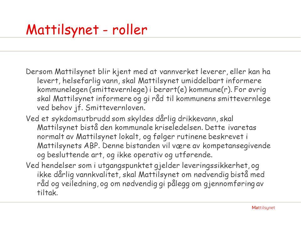 Mattilsynet - roller