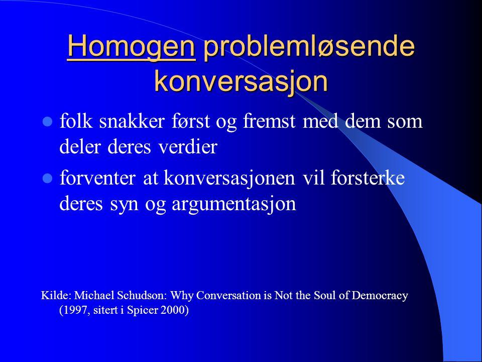 Homogen problemløsende konversasjon