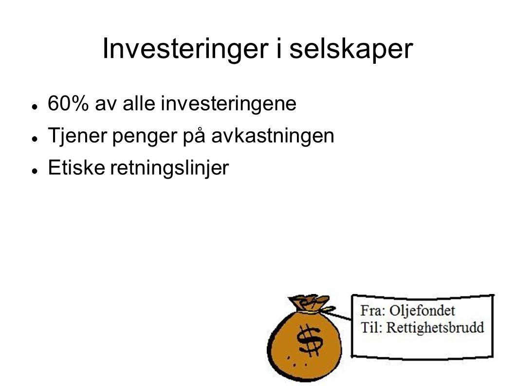 Investeringer i selskaper