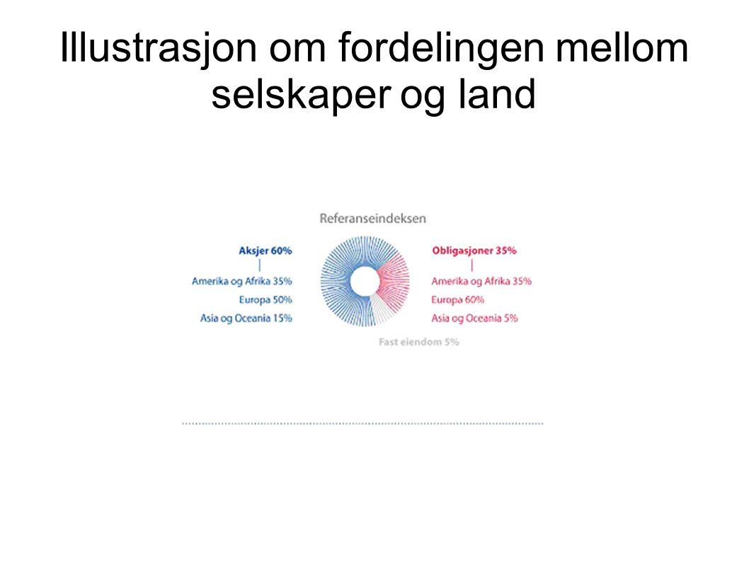 Illustrasjon om fordelingen mellom selskaper og land
