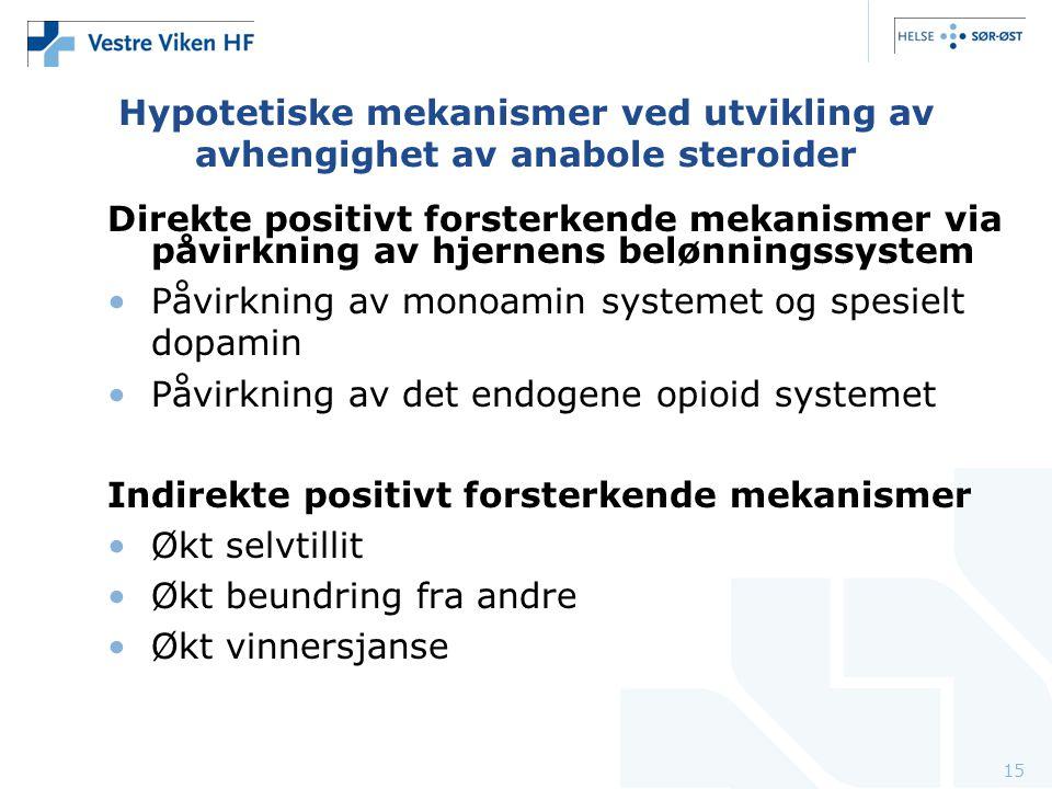 Hypotetiske mekanismer ved utvikling av avhengighet av anabole steroider