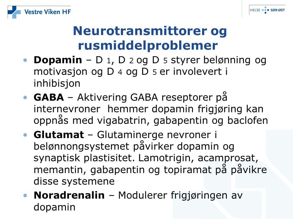 Neurotransmittorer og rusmiddelproblemer