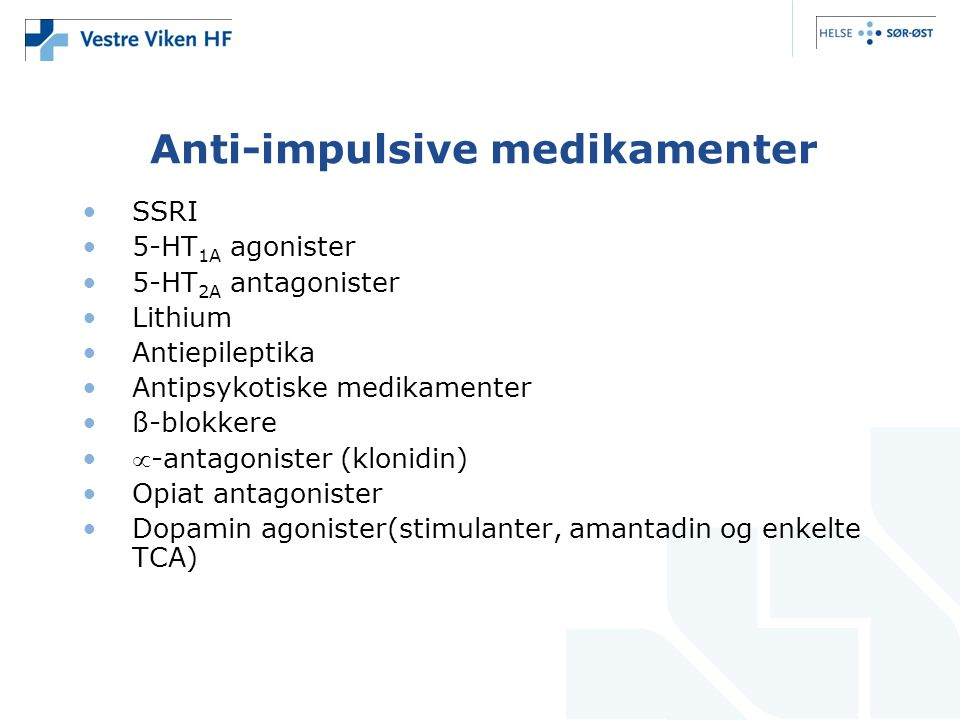 Anti-impulsive medikamenter