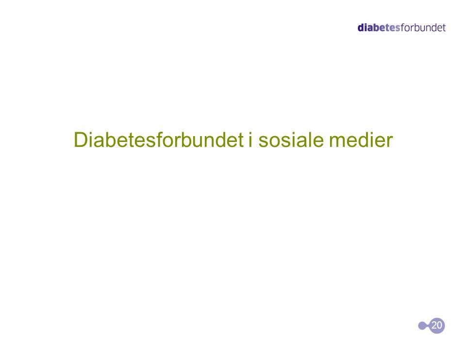 Diabetesforbundet i sosiale medier