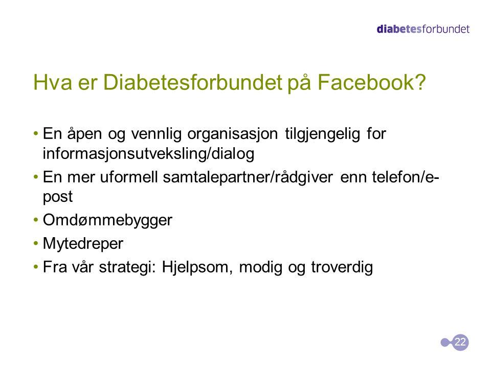 Hva er Diabetesforbundet på Facebook