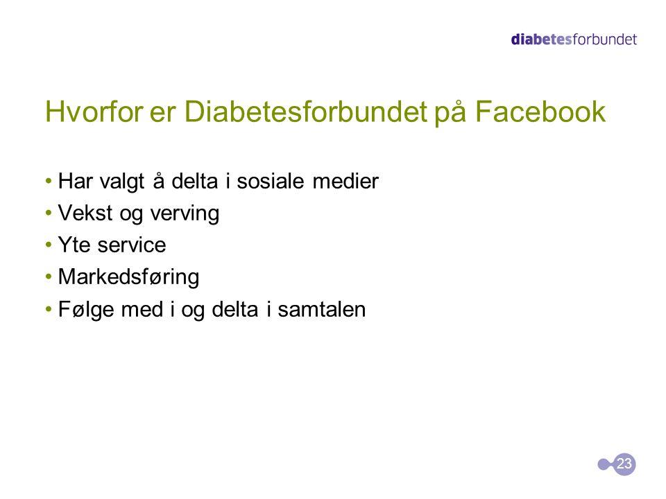 Hvorfor er Diabetesforbundet på Facebook
