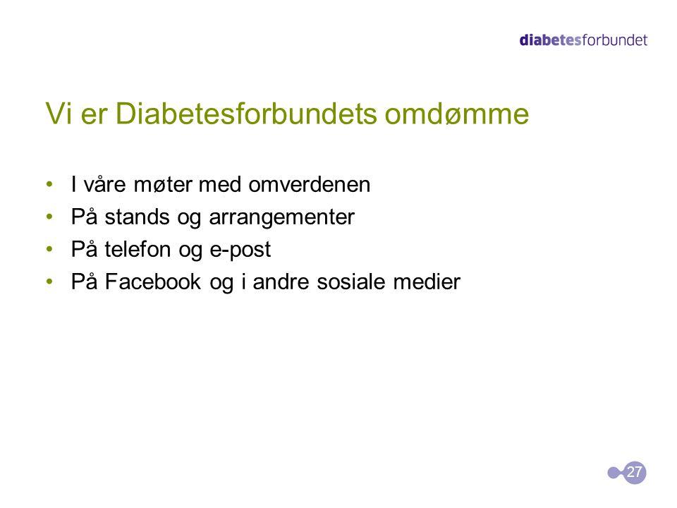 Vi er Diabetesforbundets omdømme