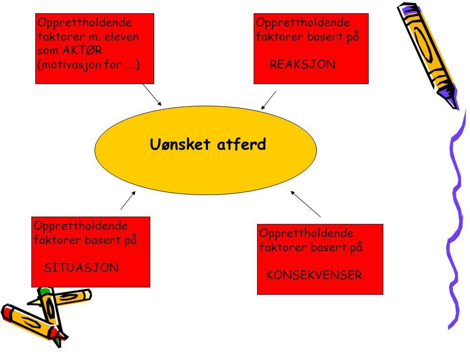 Opprettholdende faktorer m. eleven som AKTØR