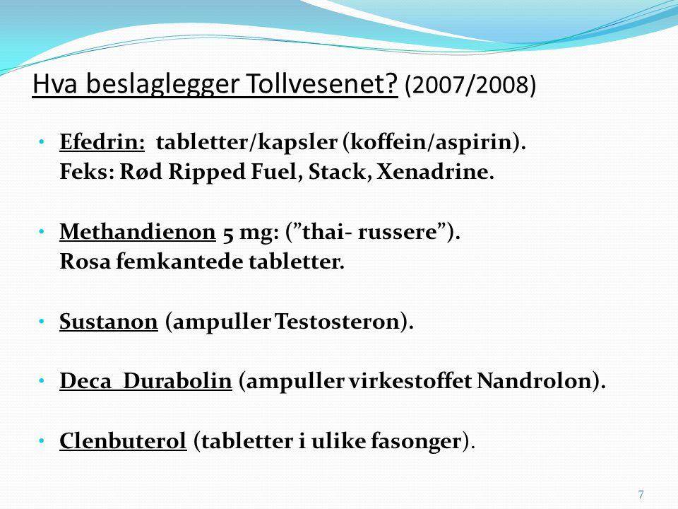 Hva beslaglegger Tollvesenet (2007/2008)