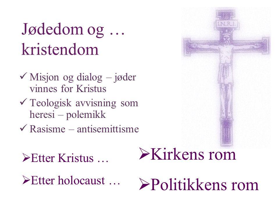Jødedom og … kristendom