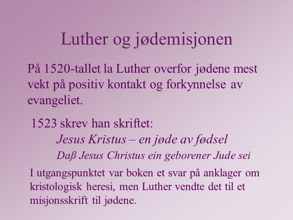 Luther og jødemisjonen