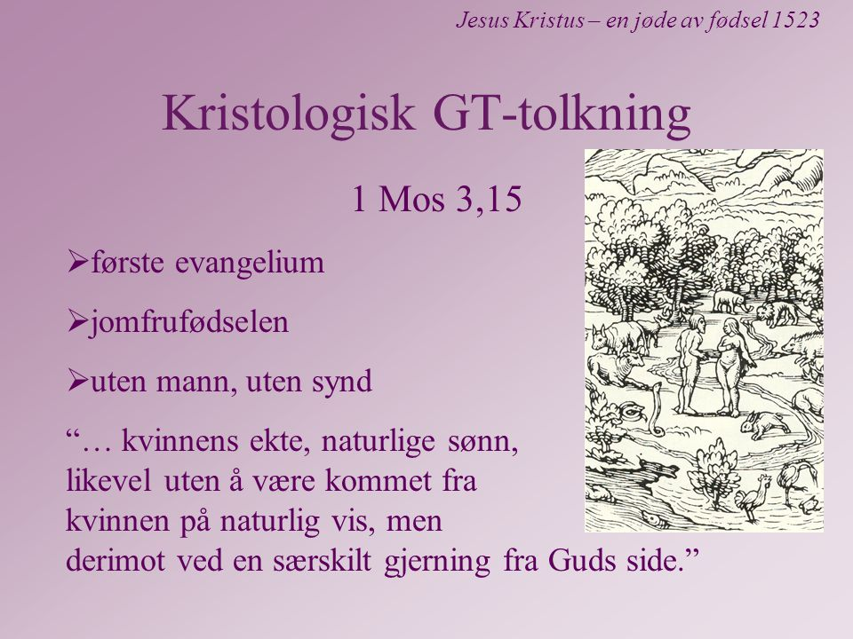 Kristologisk GT-tolkning
