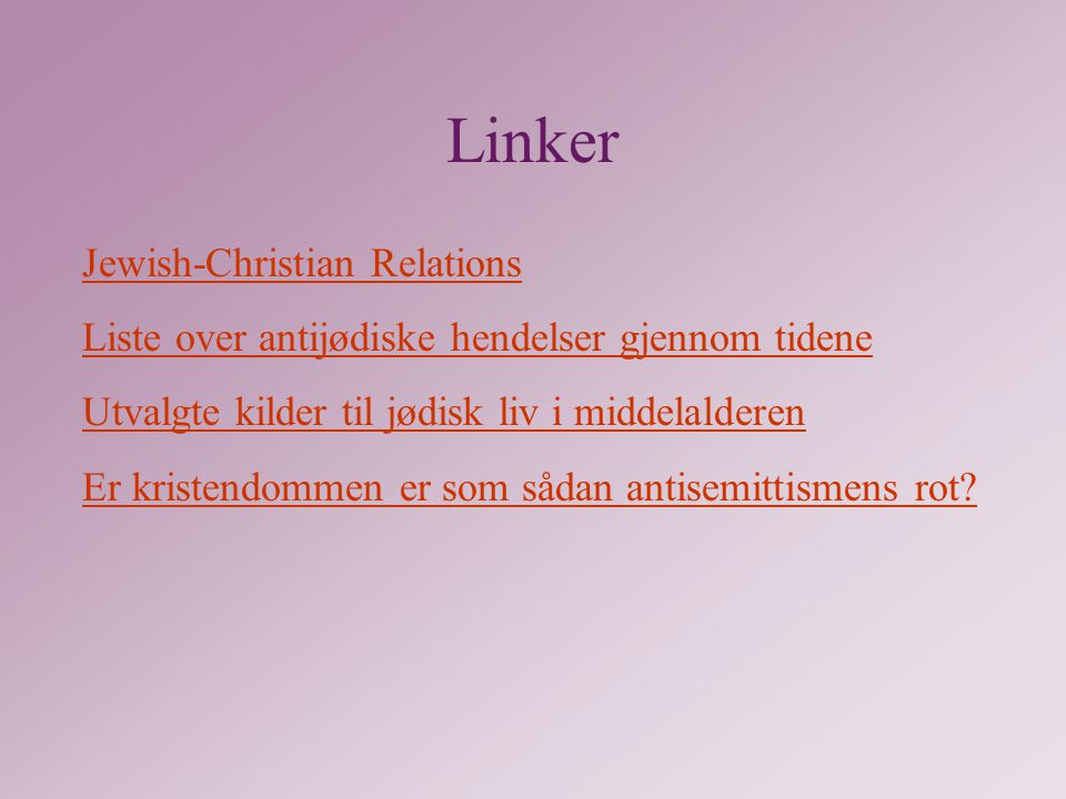 Linker Jewish-Christian Relations