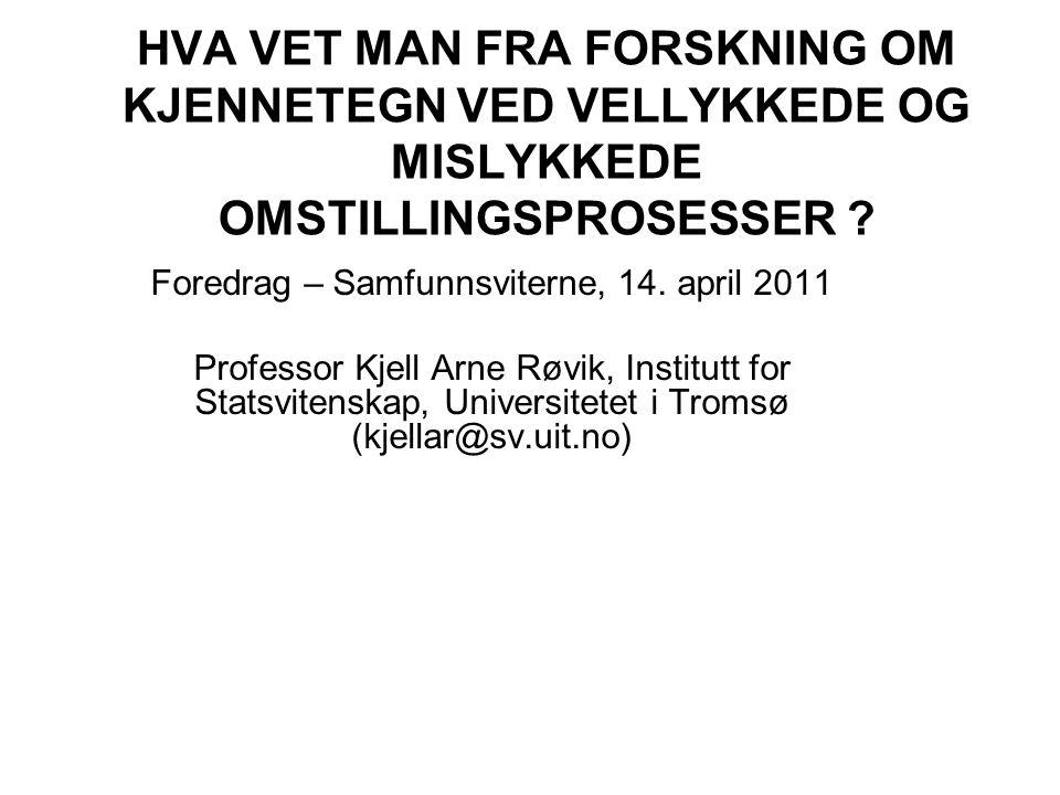 Foredrag – Samfunnsviterne, 14. april 2011