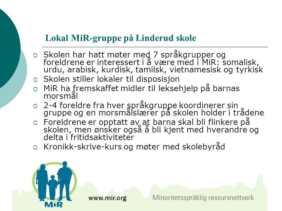 Lokal MiR-gruppe på Linderud skole