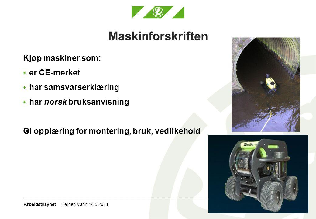 Maskinforskriften Kjøp maskiner som: er CE-merket