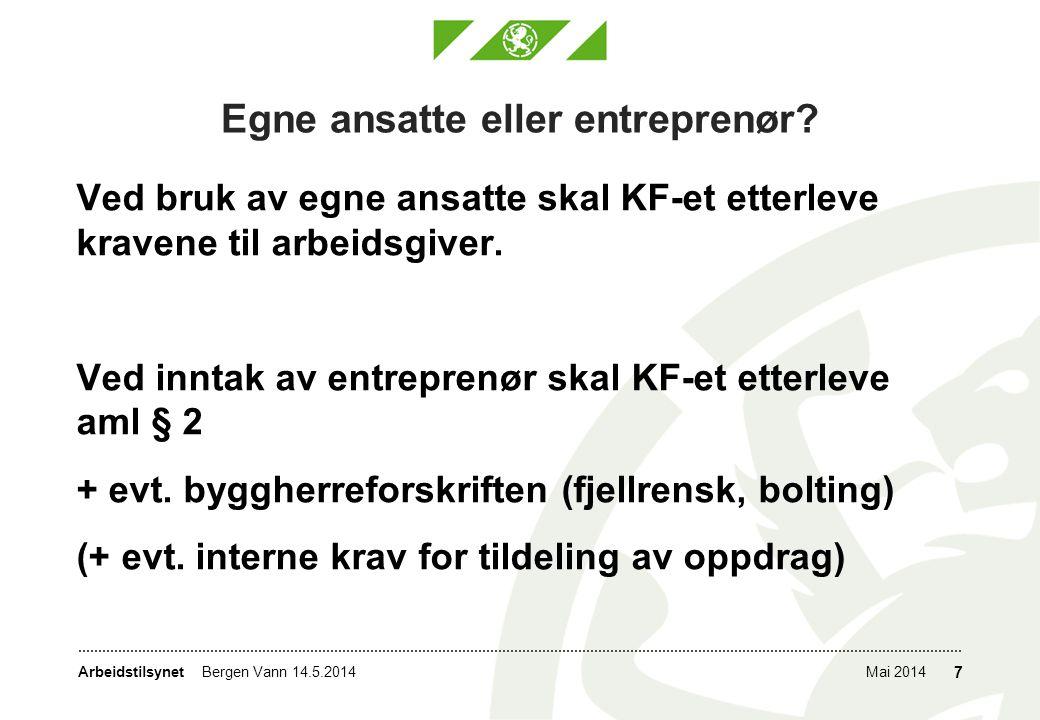 Egne ansatte eller entreprenør