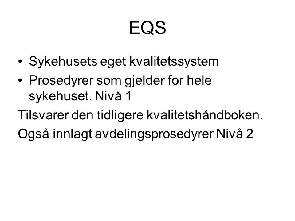 EQS Sykehusets eget kvalitetssystem