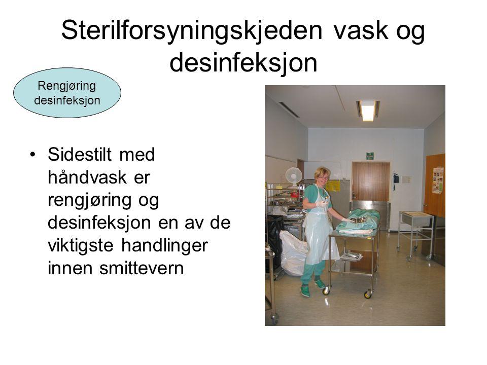 Sterilforsyningskjeden vask og desinfeksjon