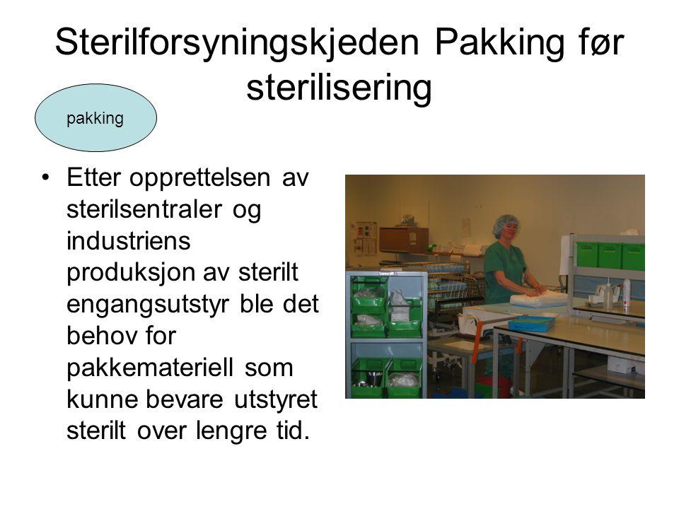 Sterilforsyningskjeden Pakking før sterilisering