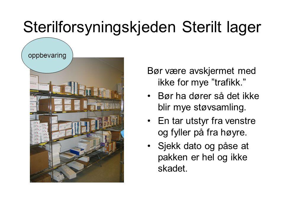 Sterilforsyningskjeden Sterilt lager