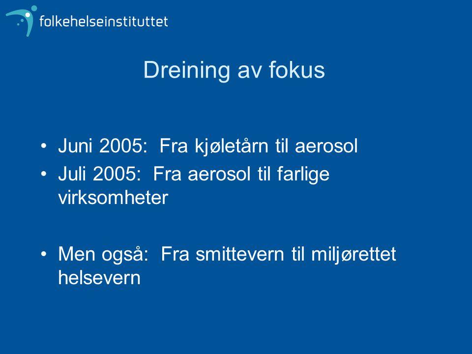 Dreining av fokus Juni 2005: Fra kjøletårn til aerosol