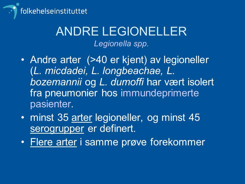 ANDRE LEGIONELLER Legionella spp.
