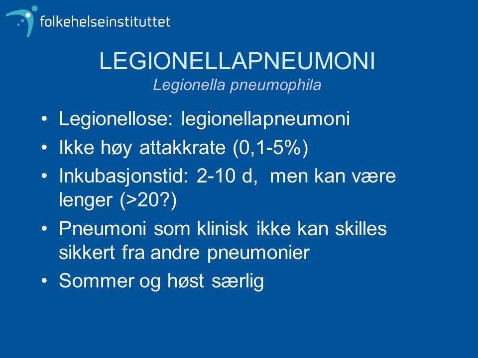 LEGIONELLAPNEUMONI Legionella pneumophila