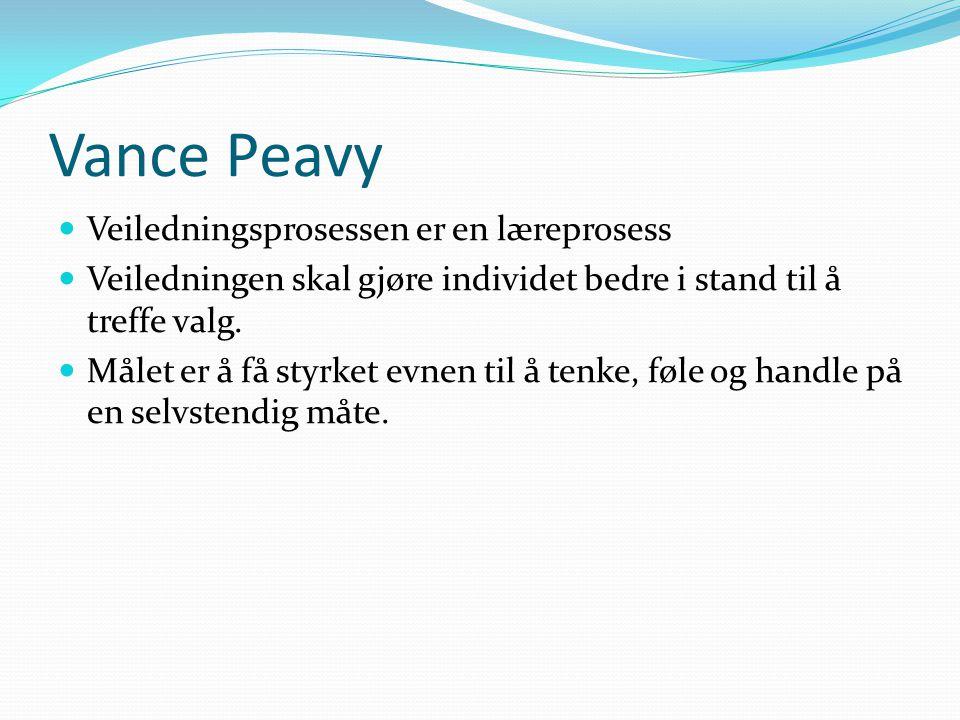Vance Peavy Veiledningsprosessen er en læreprosess