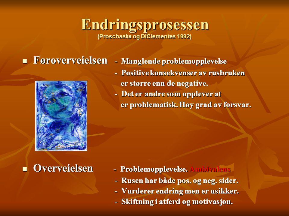 Endringsprosessen (Proschaska og DiClementes 1992)