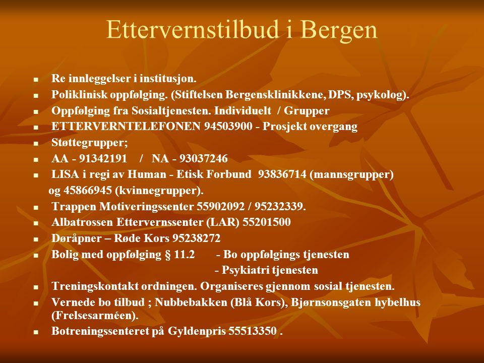 Ettervernstilbud i Bergen