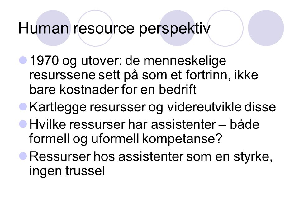 Human resource perspektiv