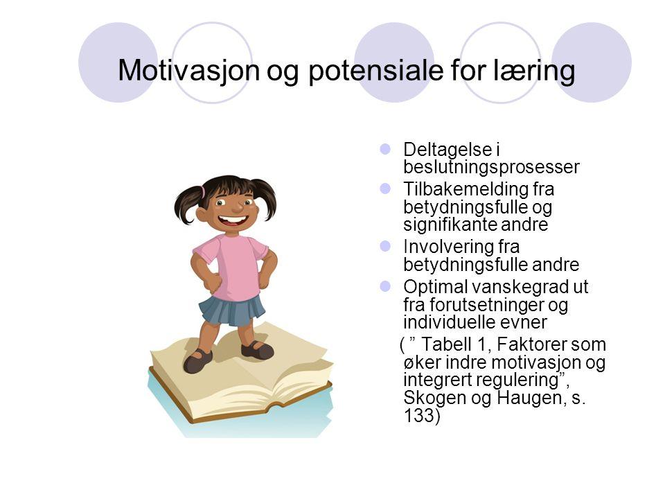 Motivasjon og potensiale for læring