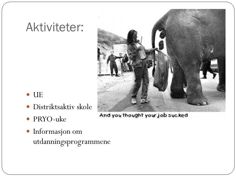 Aktiviteter: UE Distriktsaktiv skole PRYO-uke
