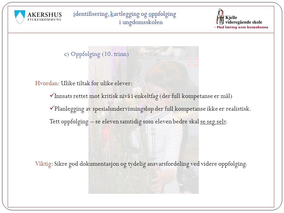 identifisering, kartlegging og oppfølging i ungdomsskolen