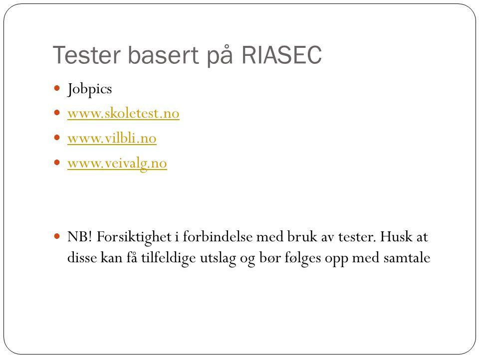 Tester basert på RIASEC