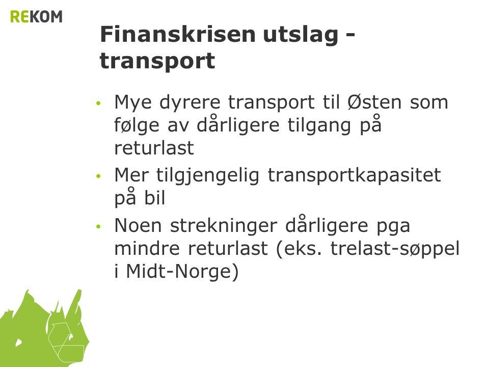 Finanskrisen utslag - transport