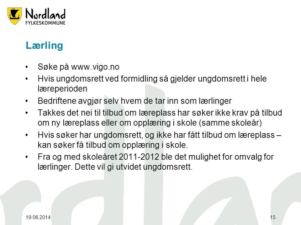 Lærling Søke på www.vigo.no