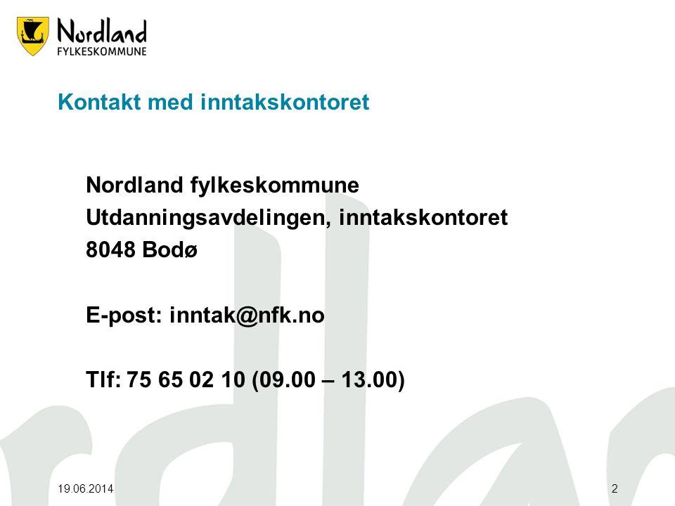 Kontakt med inntakskontoret