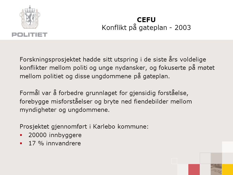 CEFU Konflikt på gateplan - 2003