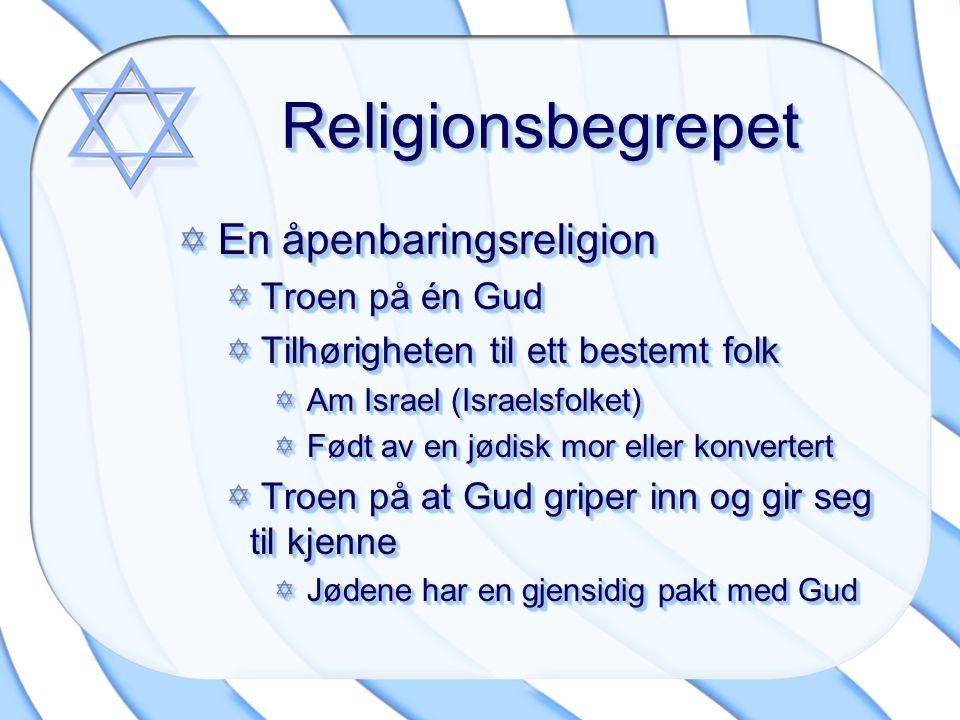 Religionsbegrepet En åpenbaringsreligion Troen på én Gud