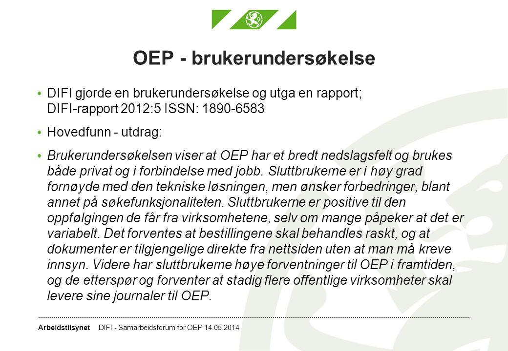 OEP - brukerundersøkelse