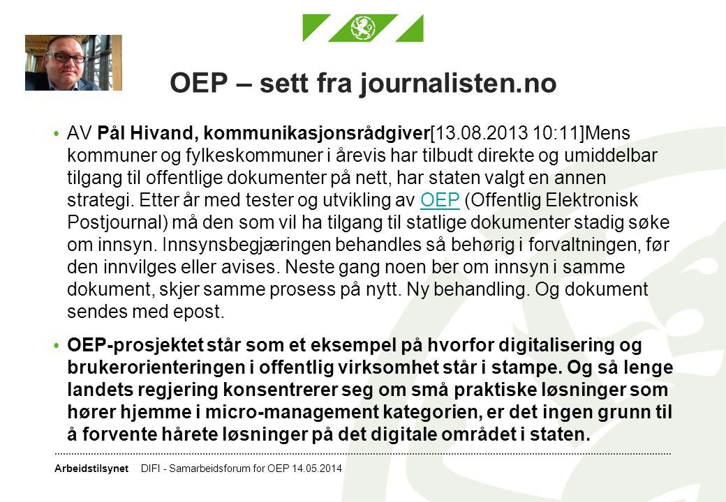OEP – sett fra journalisten.no
